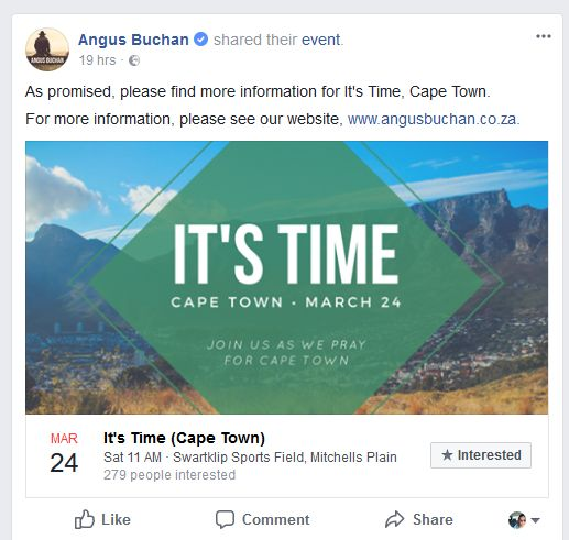 Praying for Rain – Is God Really Angry with the People of Cape Town?