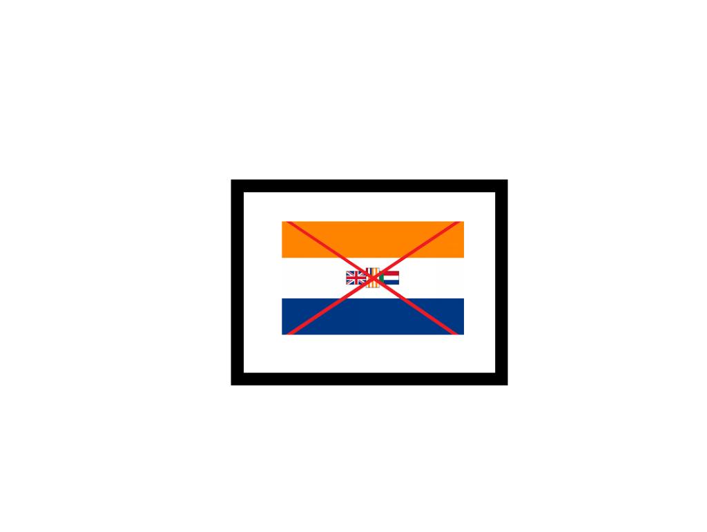The Apartheid Flag must GO!